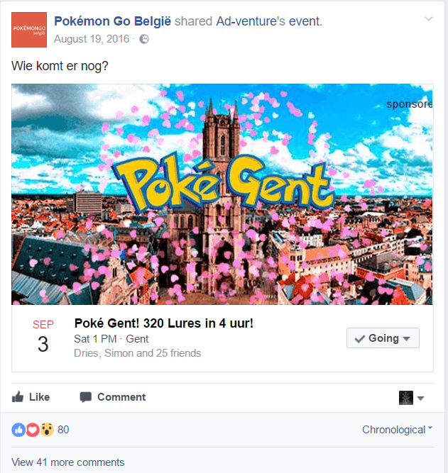 facebook event top influencer post engagement pokegent