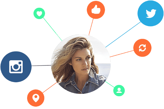 female social media influencer