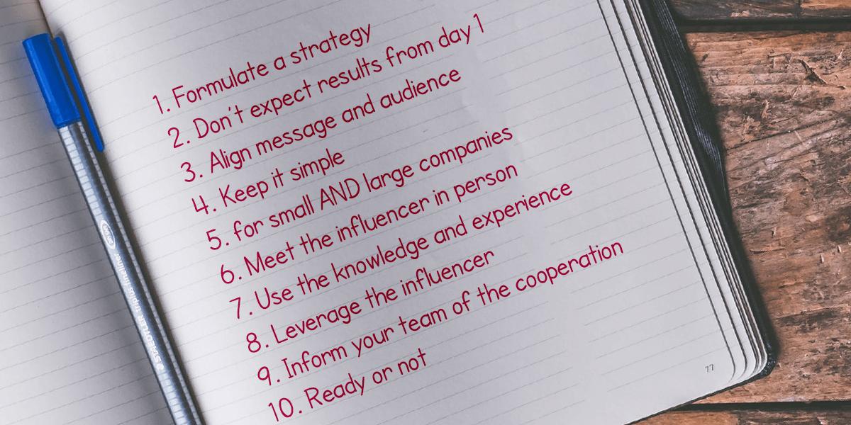B2B influencer tips